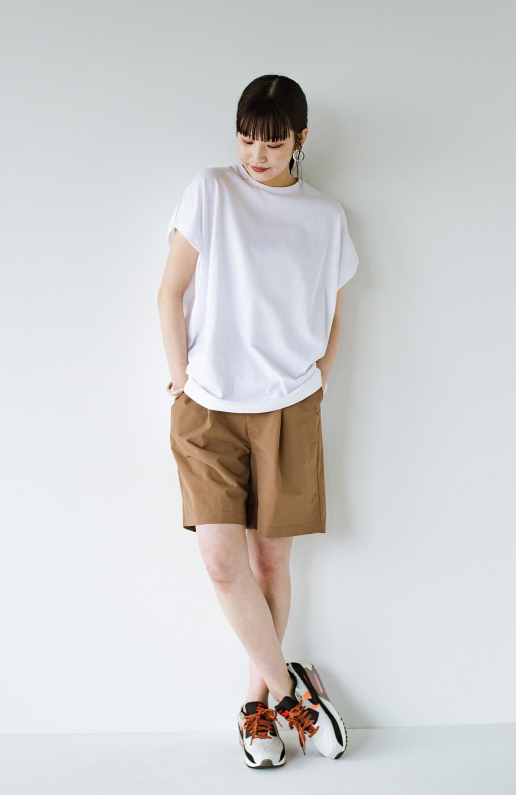 haco! PBPオーガニックコットン 楽ちんなのにブラウス気分で着られる大人のおめかしTシャツ <ホワイト>の商品写真14