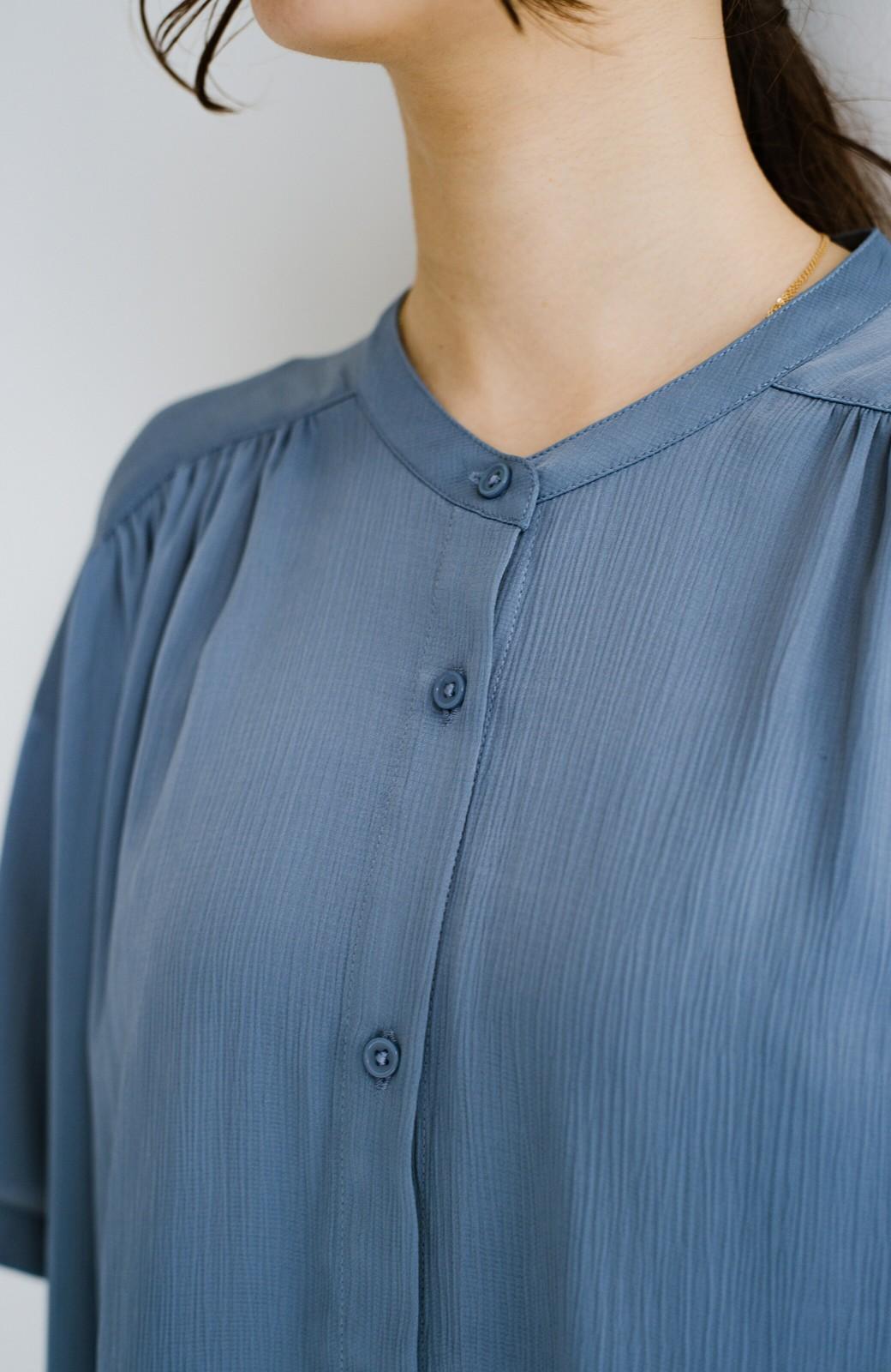 haco! 羽織としてもワンピースとしても着られちゃう 後ろ姿まで抜かりなくかわいいプリーツワンピース <ブルー>の商品写真13