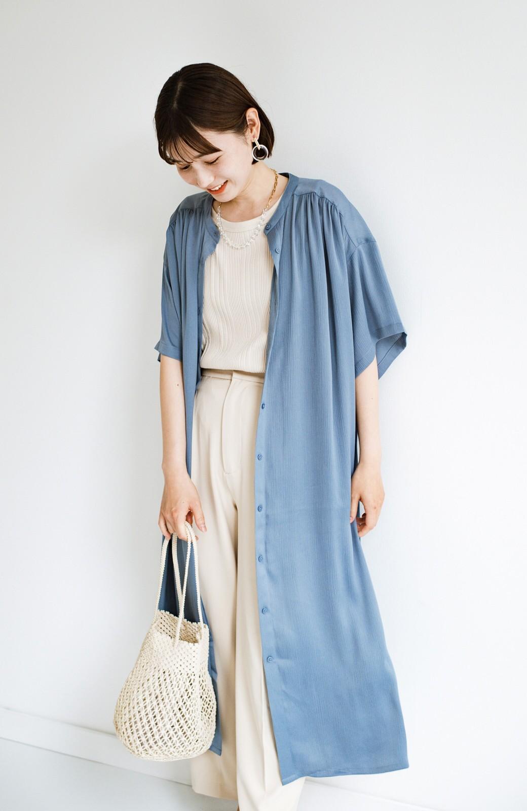haco! 羽織としてもワンピースとしても着られちゃう 後ろ姿まで抜かりなくかわいいプリーツワンピース <ブルー>の商品写真7