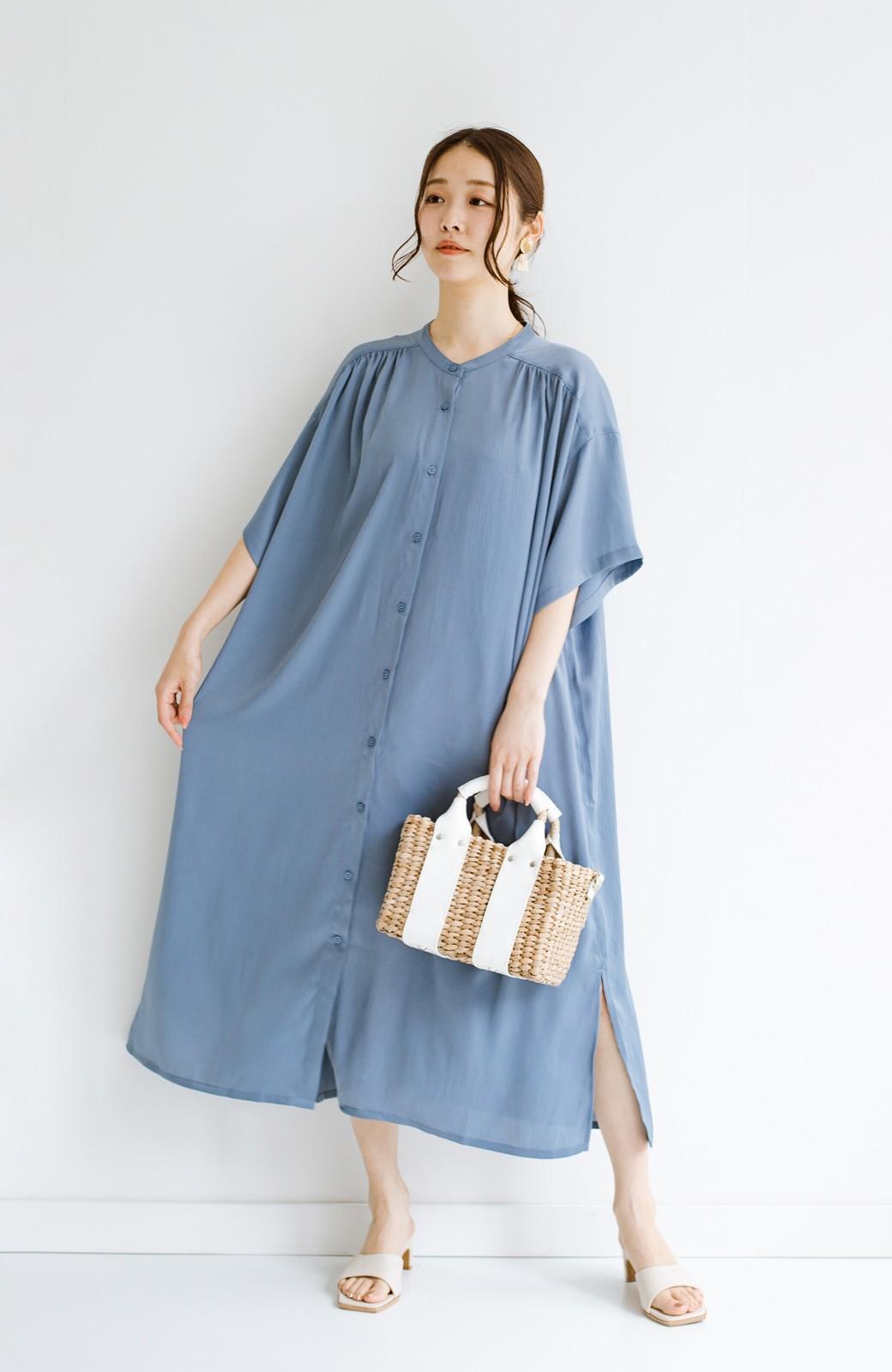 haco! 羽織としてもワンピースとしても着られちゃう 後ろ姿まで抜かりなくかわいいプリーツワンピース <ブルー>の商品写真17