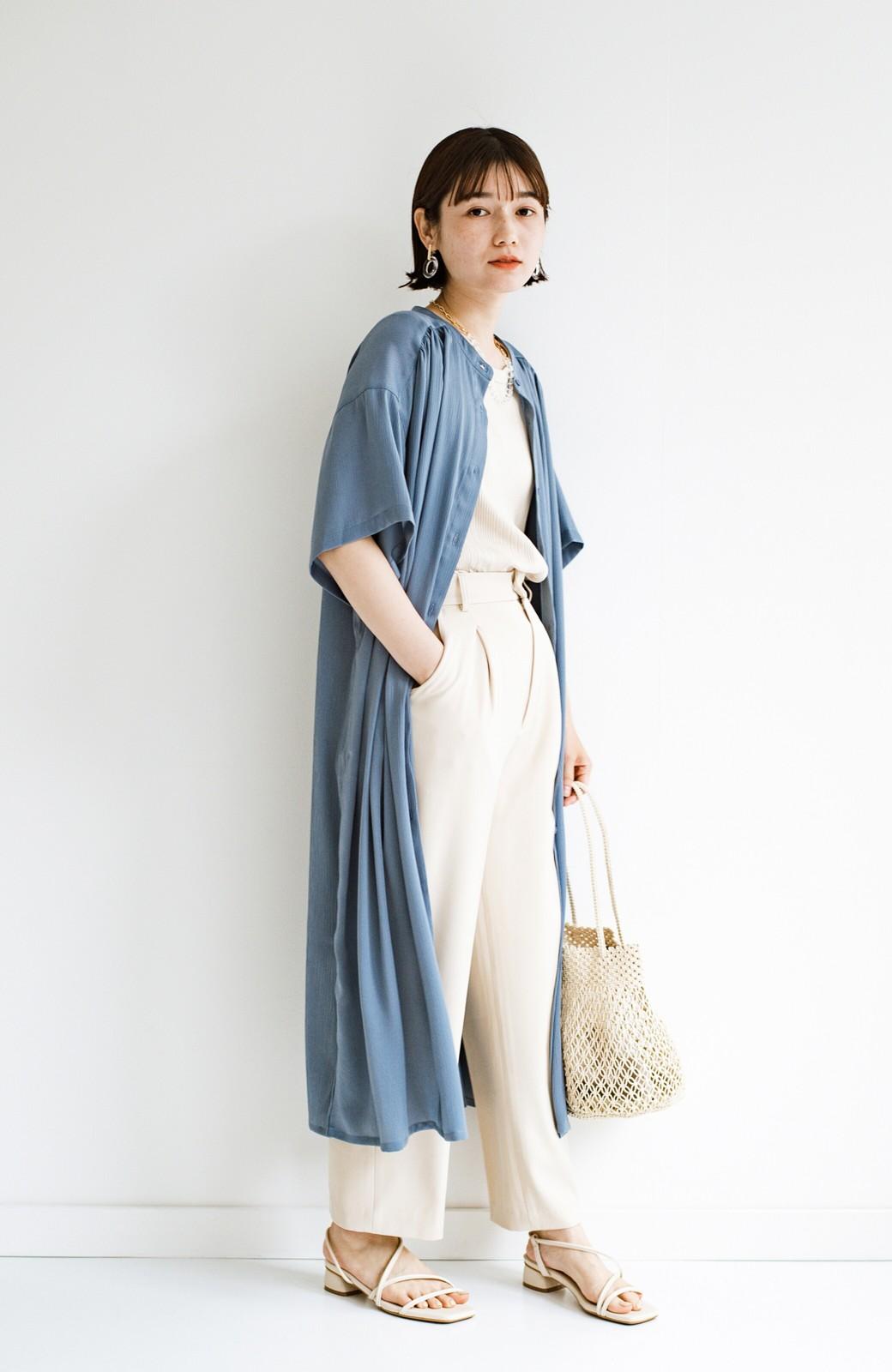 haco! 羽織としてもワンピースとしても着られちゃう 後ろ姿まで抜かりなくかわいいプリーツワンピース <ブルー>の商品写真21