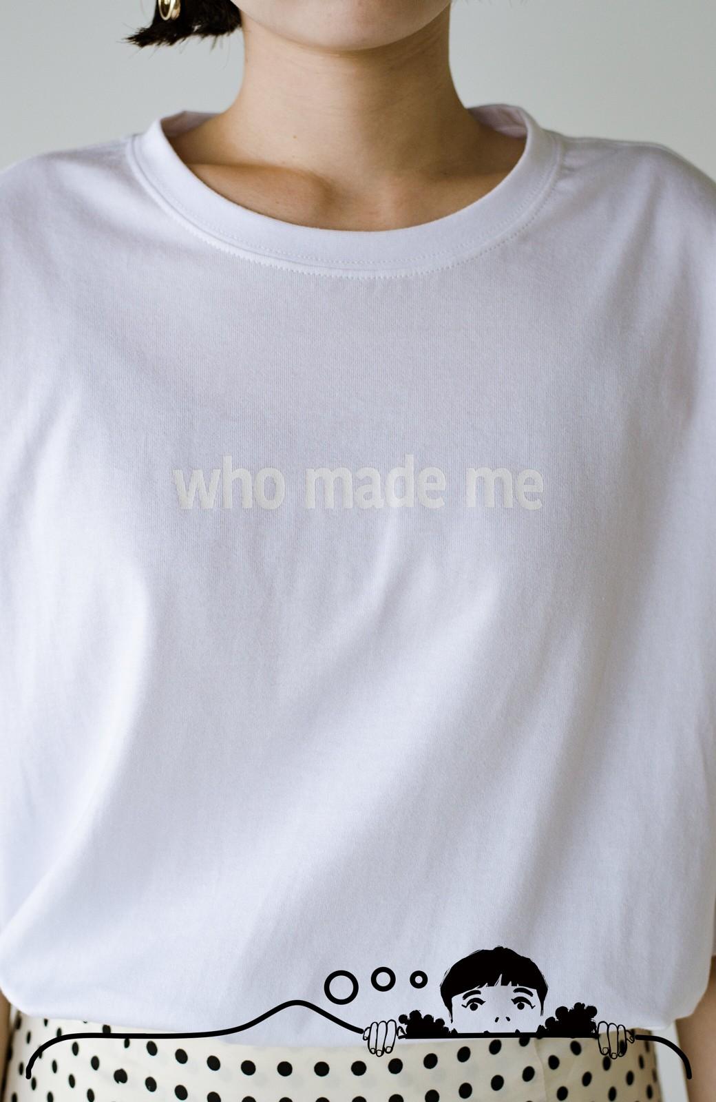 haco! あるかないかで大違い!大人の抜け感を醸し出すさりげなロゴTシャツ by who made me + PBP <ホワイト>の商品写真4