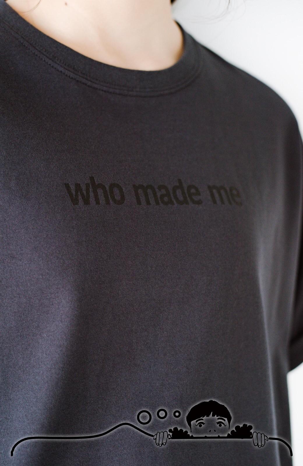haco! あるかないかで大違い!大人の抜け感を醸し出すさりげなロゴTシャツ by who made me + PBP <チャコールグレー>の商品写真4