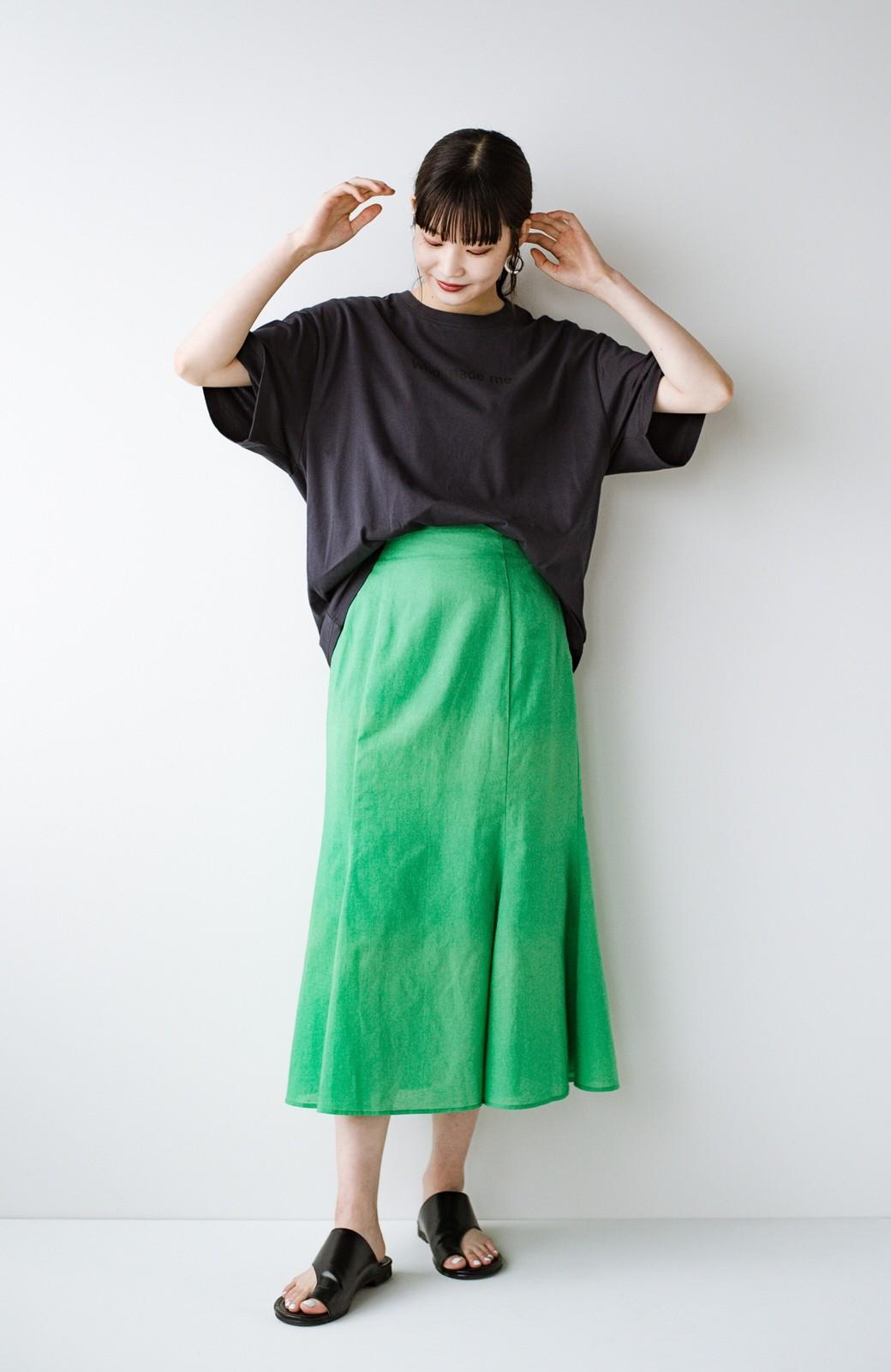 haco! あるかないかで大違い!大人の抜け感を醸し出すさりげなロゴTシャツ by who made me + PBP <チャコールグレー>の商品写真23