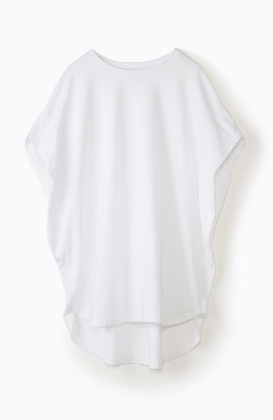 haco! PBPオーガニックコットン 楽ちんなのにブラウス気分で着られる大人のおめかしTシャツ <ホワイト>の商品写真28