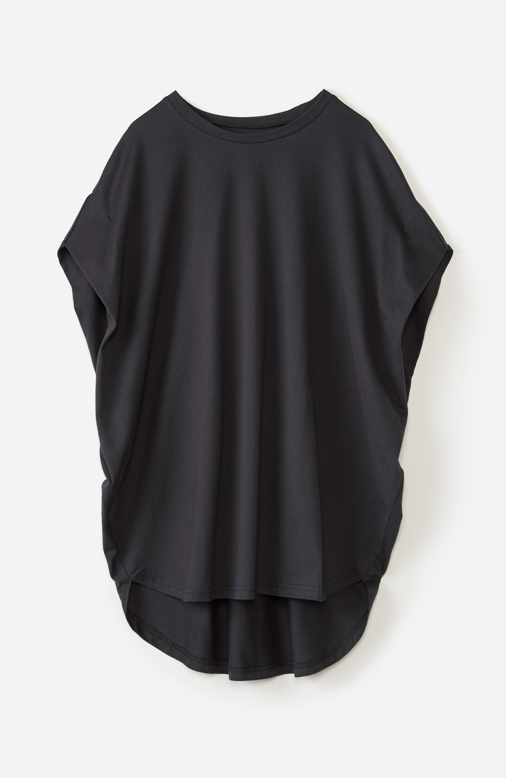 haco! PBPオーガニックコットン 楽ちんなのにブラウス気分で着られる大人のおめかしTシャツ <チャコールグレー>の商品写真21