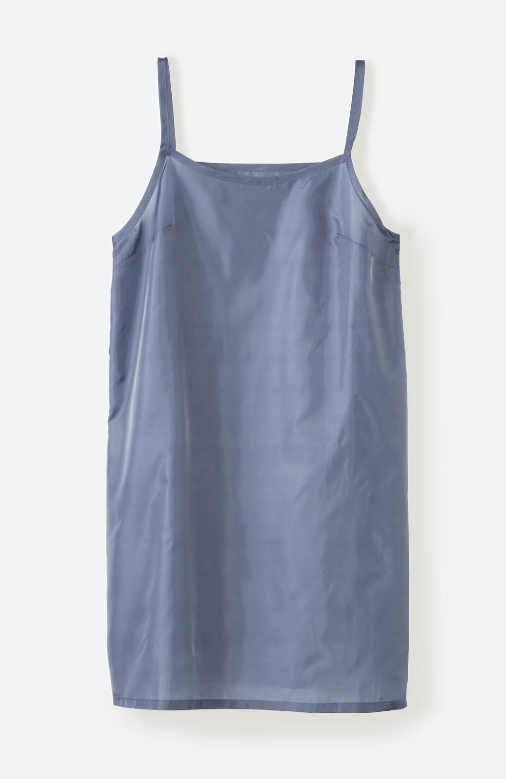 haco! 羽織としてもワンピースとしても着られちゃう 後ろ姿まで抜かりなくかわいいプリーツワンピース <ブルー>の商品写真10