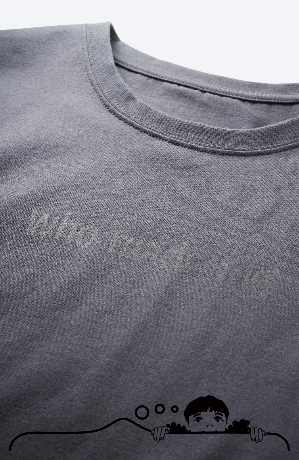 haco! あるかないかで大違い!大人の抜け感を醸し出すさりげなロゴTシャツ by who made me + PBP <チャコールグレー>の商品写真2