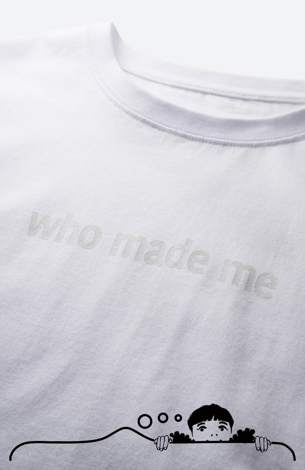 haco! あるかないかで大違い!大人の抜け感を醸し出すさりげなロゴTシャツ by who made me + PBP <ホワイト>の商品写真2