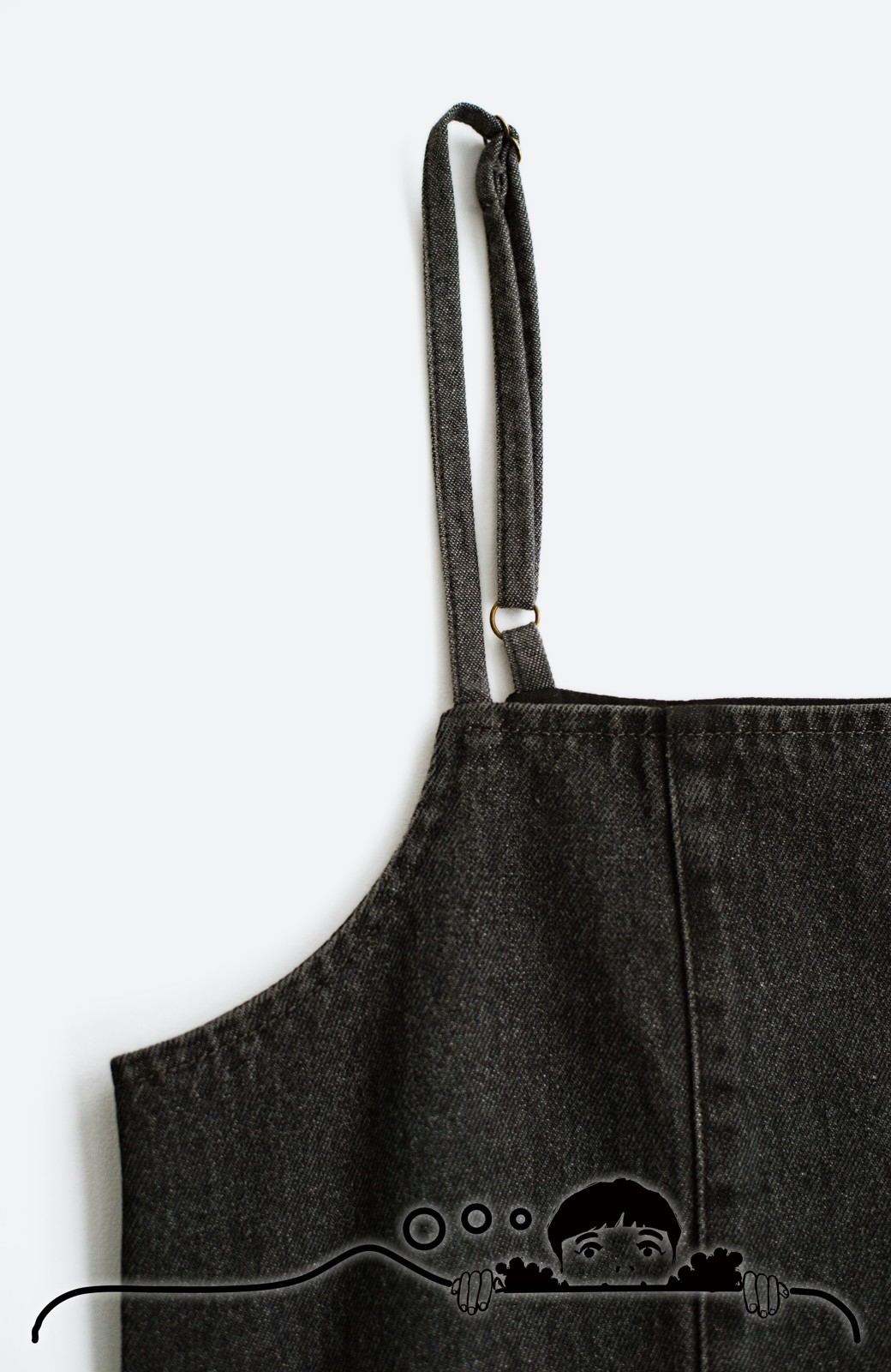 haco! コーデに迷った朝にシンプルTシャツと一緒に着るだけでかわいくなれる ラインがきれいなデニムキャミワンピースby who made me <ブラック>の商品写真8