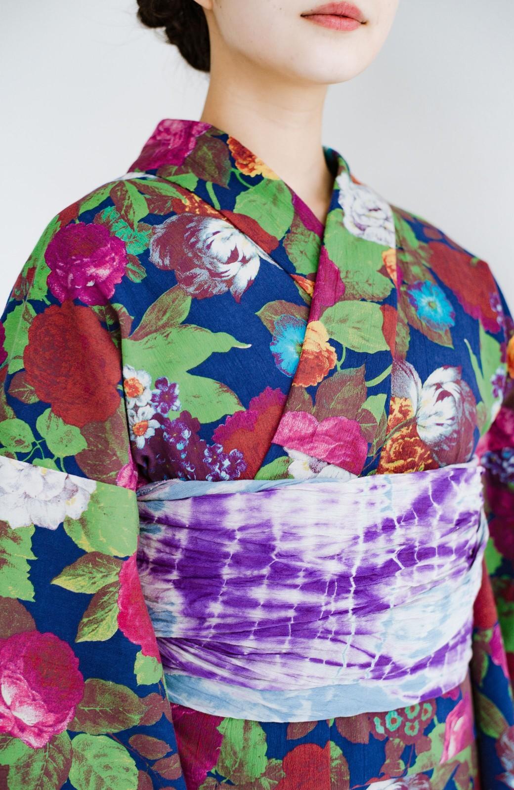haco! ひでや工房 京都の綿ちりめん浴衣 <カラフル>の商品写真6
