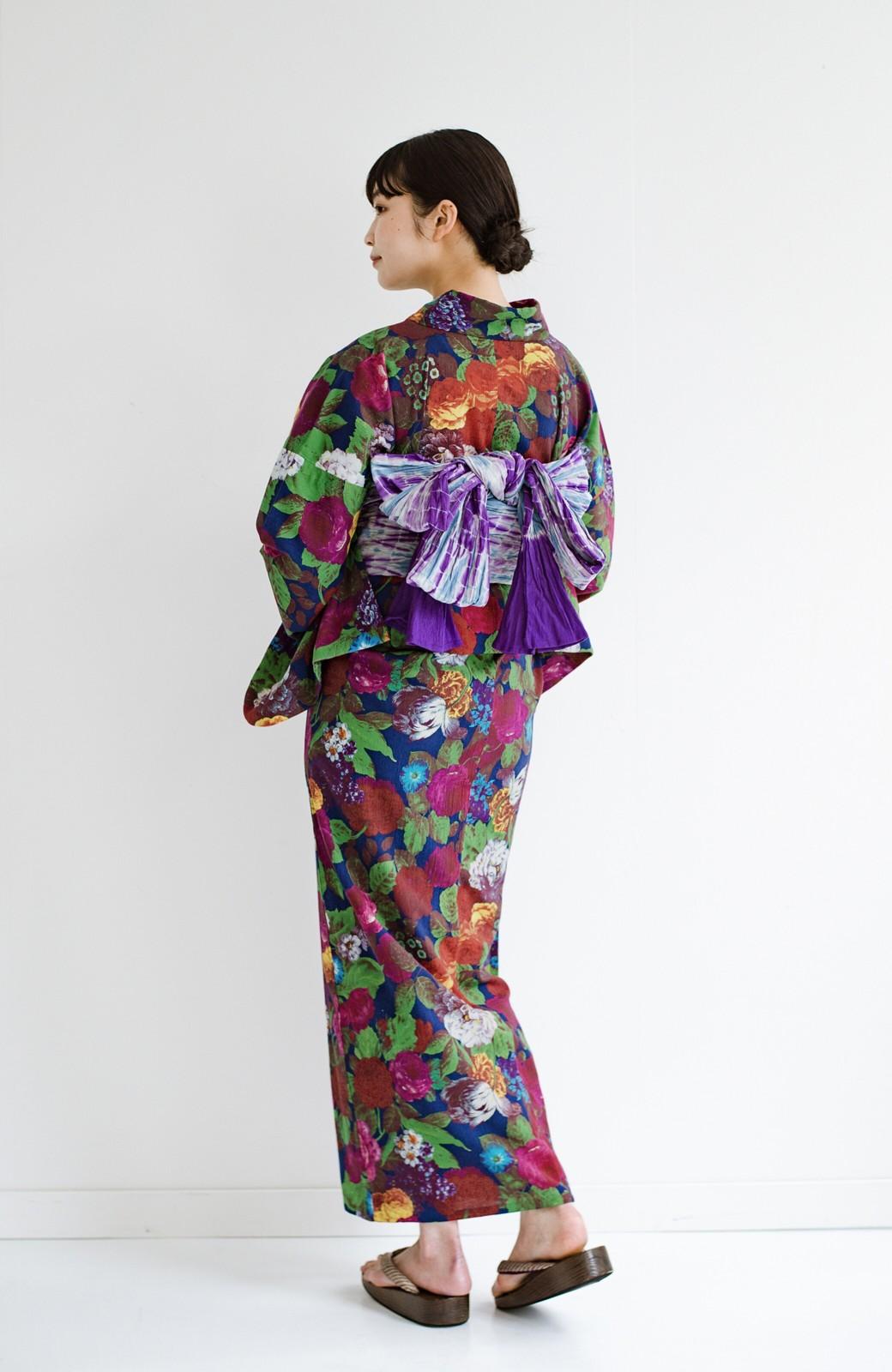 haco! ひでや工房 京都の綿ちりめん浴衣 <カラフル>の商品写真13