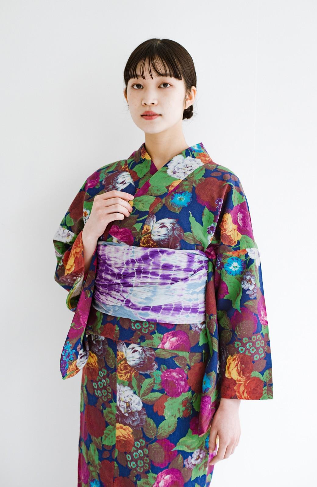 haco! ひでや工房 京都の綿ちりめん浴衣 <カラフル>の商品写真5