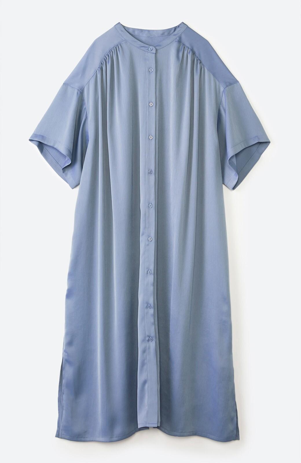 haco! 羽織としてもワンピースとしても着られちゃう 後ろ姿まで抜かりなくかわいいプリーツワンピース <ブルー>の商品写真23