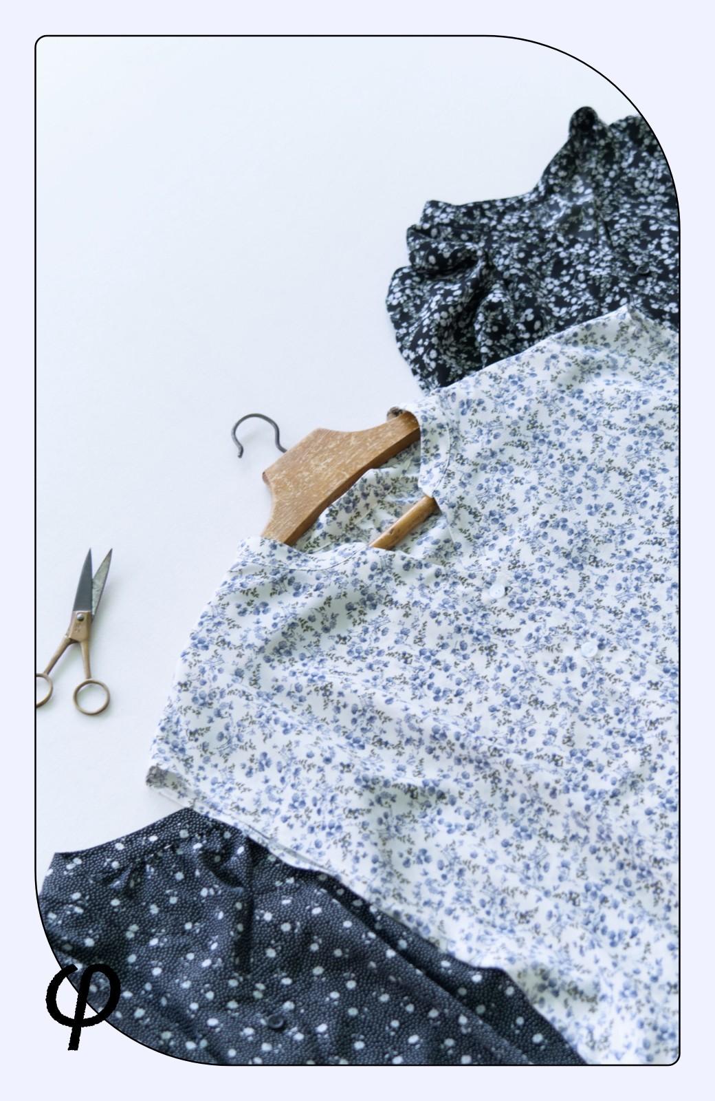 haco! (φ)ぱっと着て顔周り華やか!お仕事も普段にもしっかり着映える女っぽブラウス <アイボリー>の商品写真3