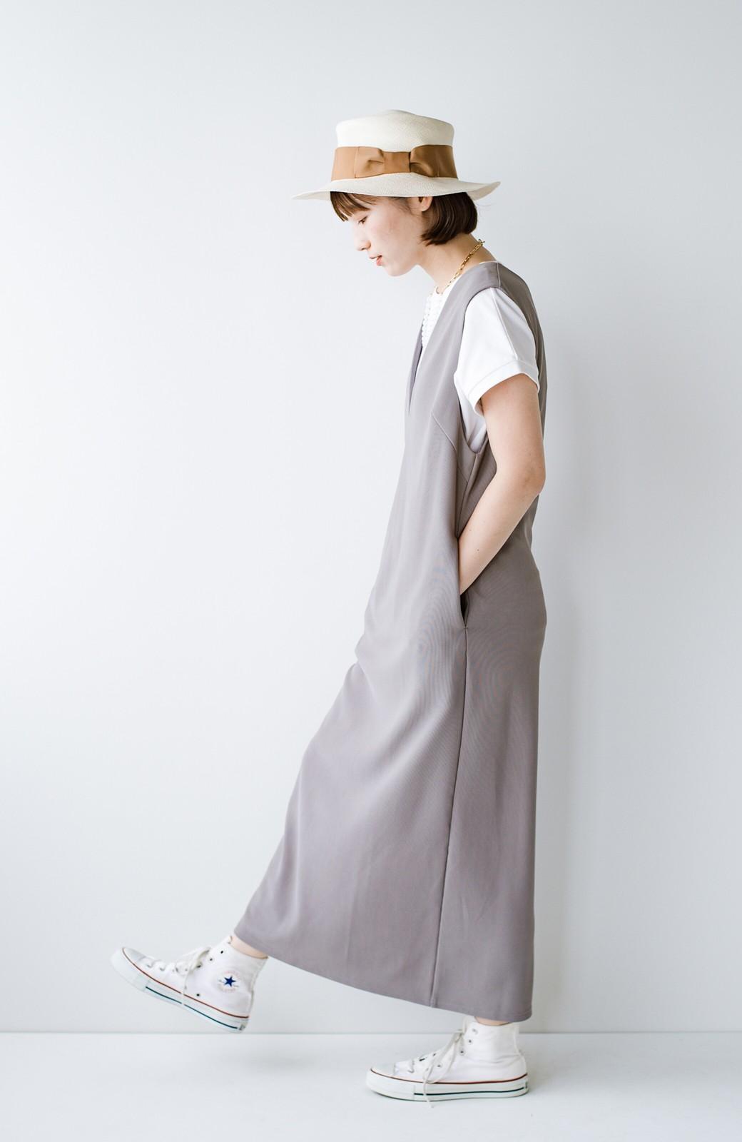 haco! 暑いねと寒いねを言い合える 続く日々がしあわせ どんな日にも寄り添うジャンパースカート by you made me <ライトグレー>の商品写真8