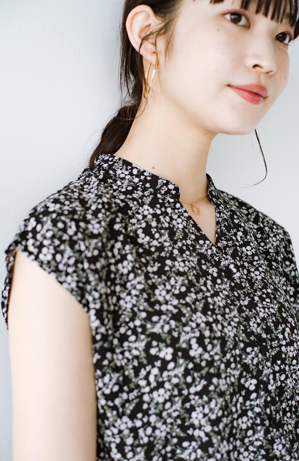 haco! (φ)ぱっと着て顔周り華やか!お仕事も普段にもしっかり着映える女っぽブラウス <ブラック>の商品写真9