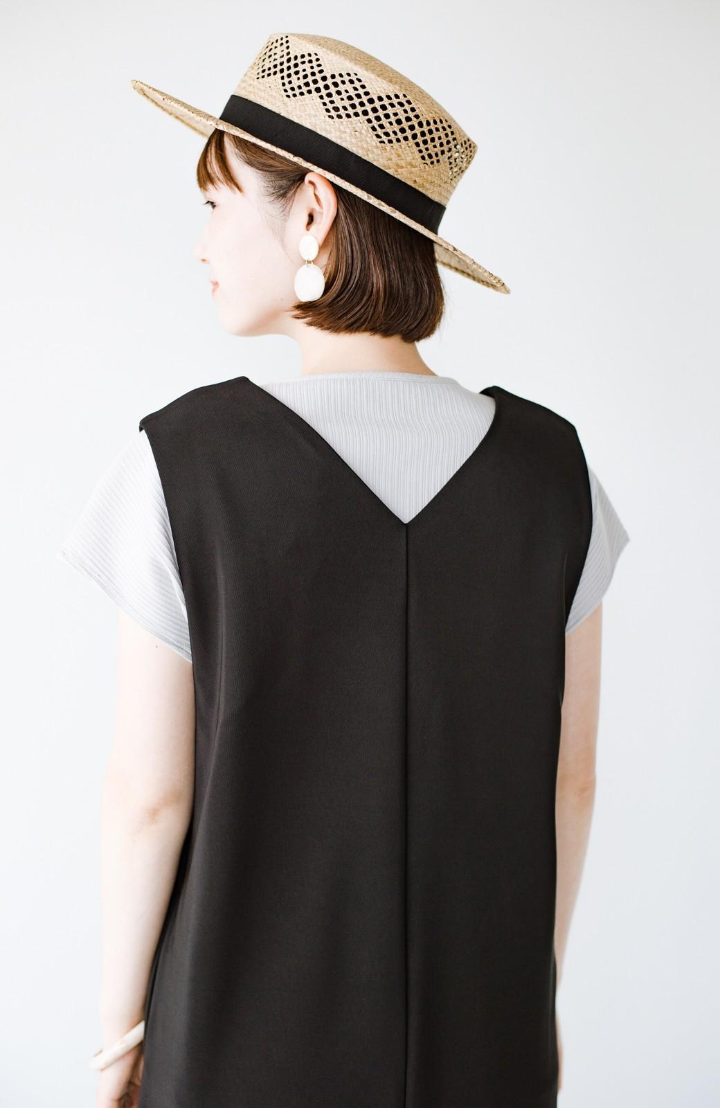 haco! 暑いねと寒いねを言い合える 続く日々がしあわせ どんな日にも寄り添うジャンパースカート by you made me <ブラック>の商品写真7