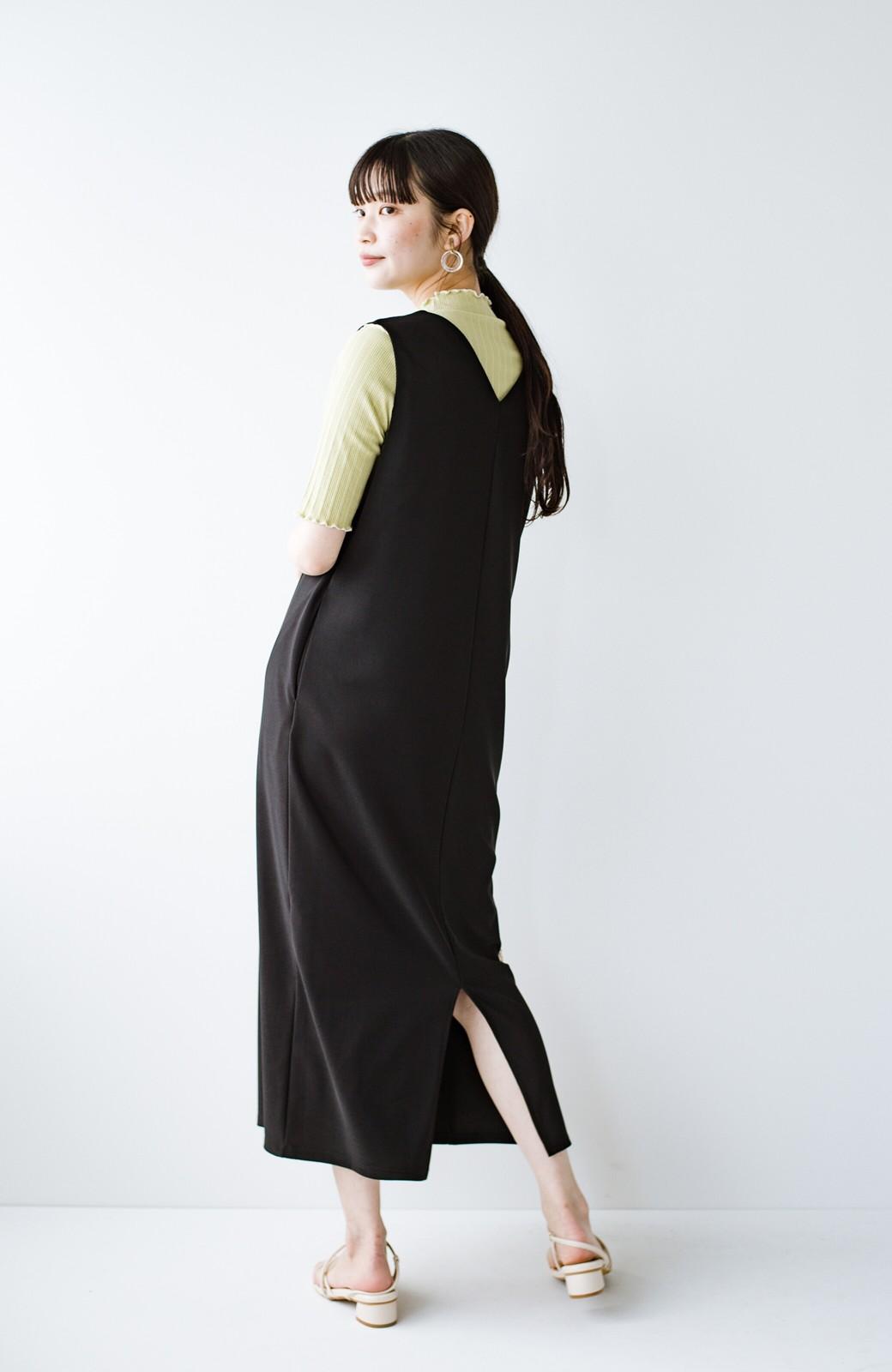 haco! 暑いねと寒いねを言い合える 続く日々がしあわせ どんな日にも寄り添うジャンパースカート by you made me <ブラック>の商品写真8