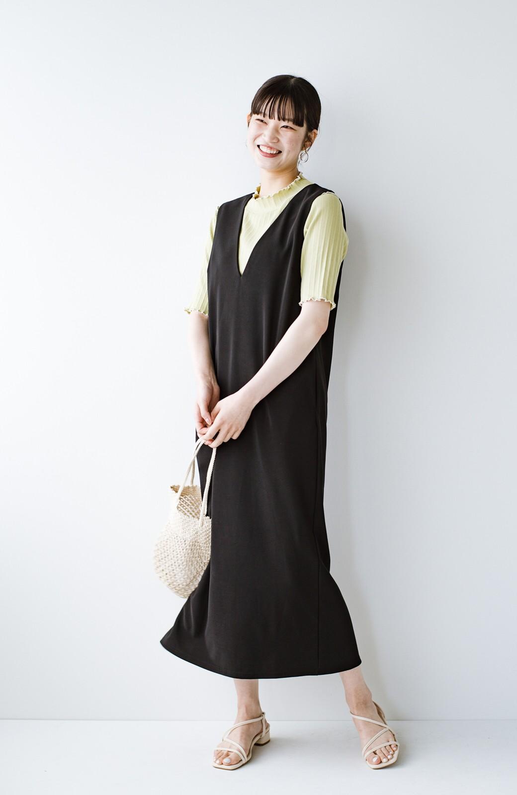 haco! 暑いねと寒いねを言い合える 続く日々がしあわせ どんな日にも寄り添うジャンパースカート by you made me <ブラック>の商品写真12