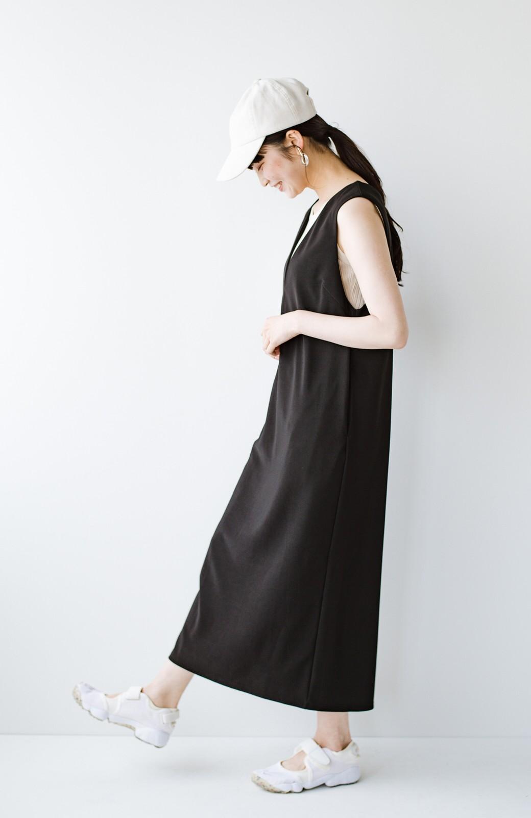 haco! 暑いねと寒いねを言い合える 続く日々がしあわせ どんな日にも寄り添うジャンパースカート by you made me <ブラック>の商品写真22
