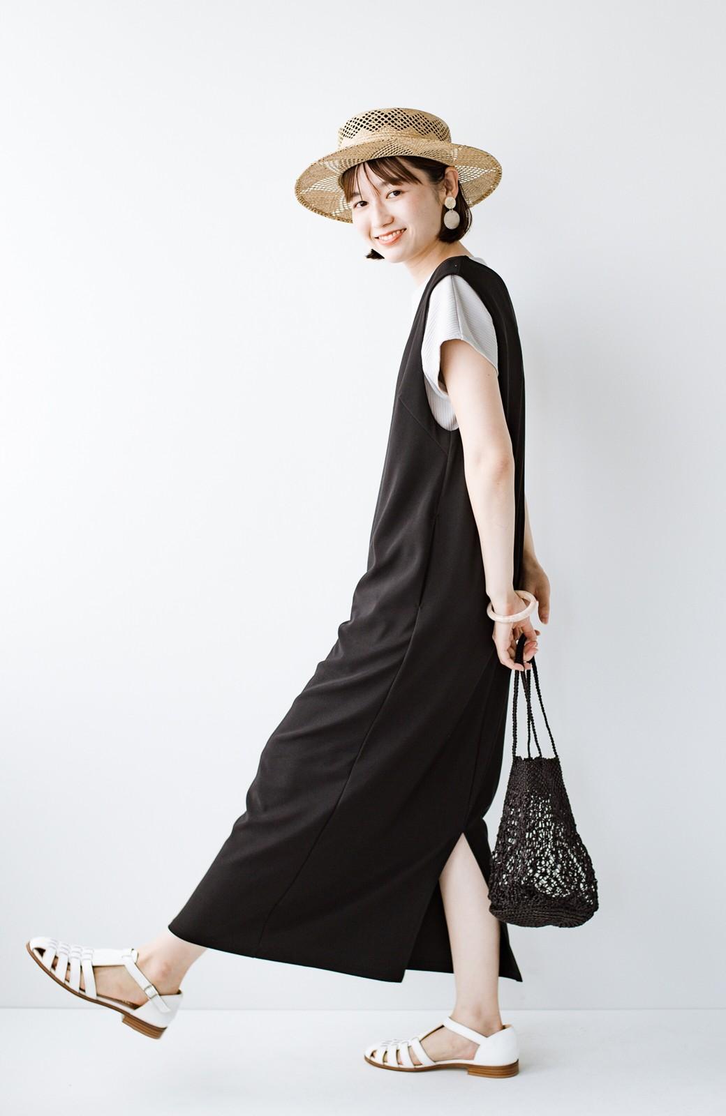 haco! 暑いねと寒いねを言い合える 続く日々がしあわせ どんな日にも寄り添うジャンパースカート by you made me <ブラック>の商品写真11