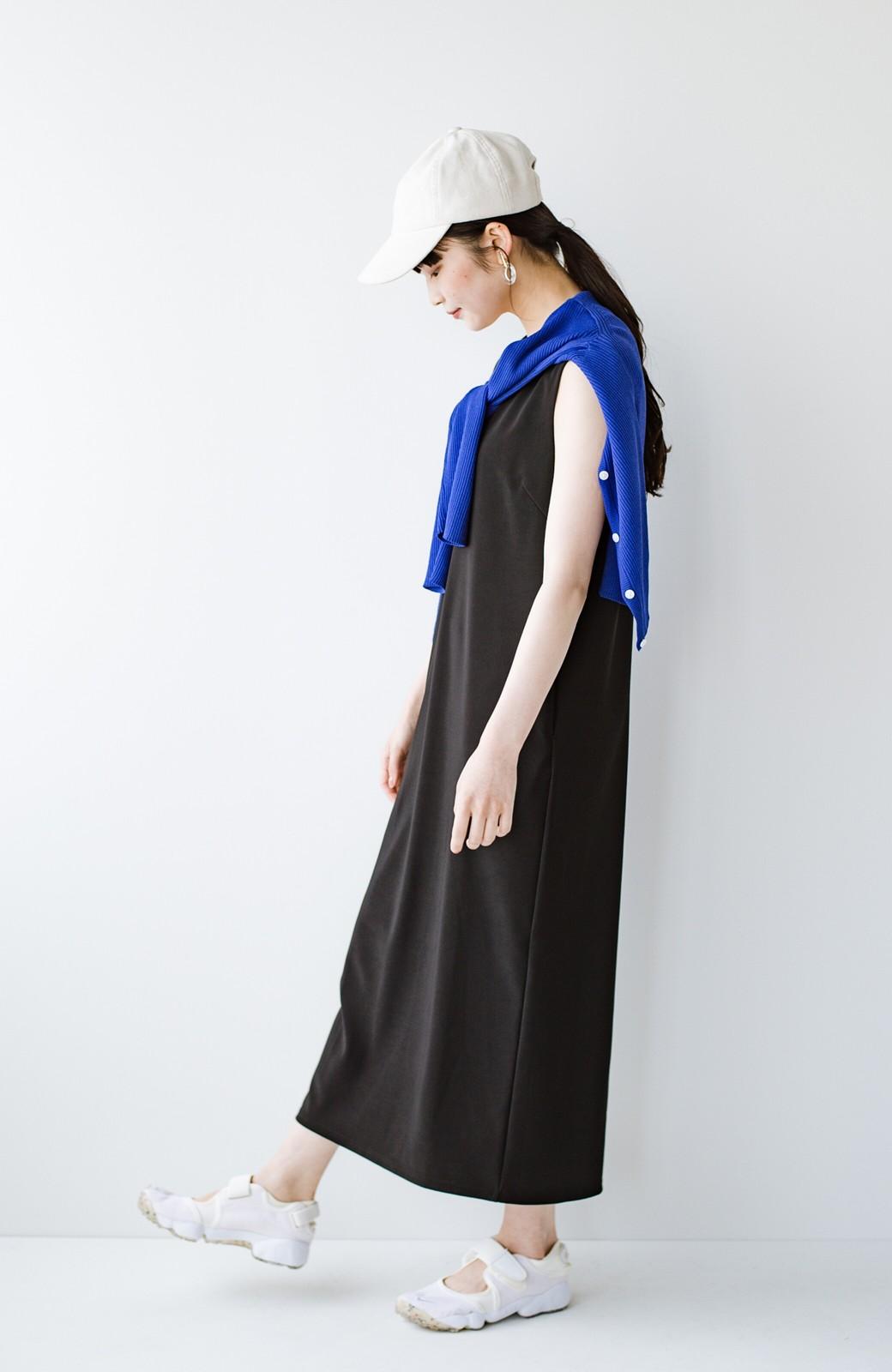 haco! 暑いねと寒いねを言い合える 続く日々がしあわせ どんな日にも寄り添うジャンパースカート by you made me <ブラック>の商品写真15