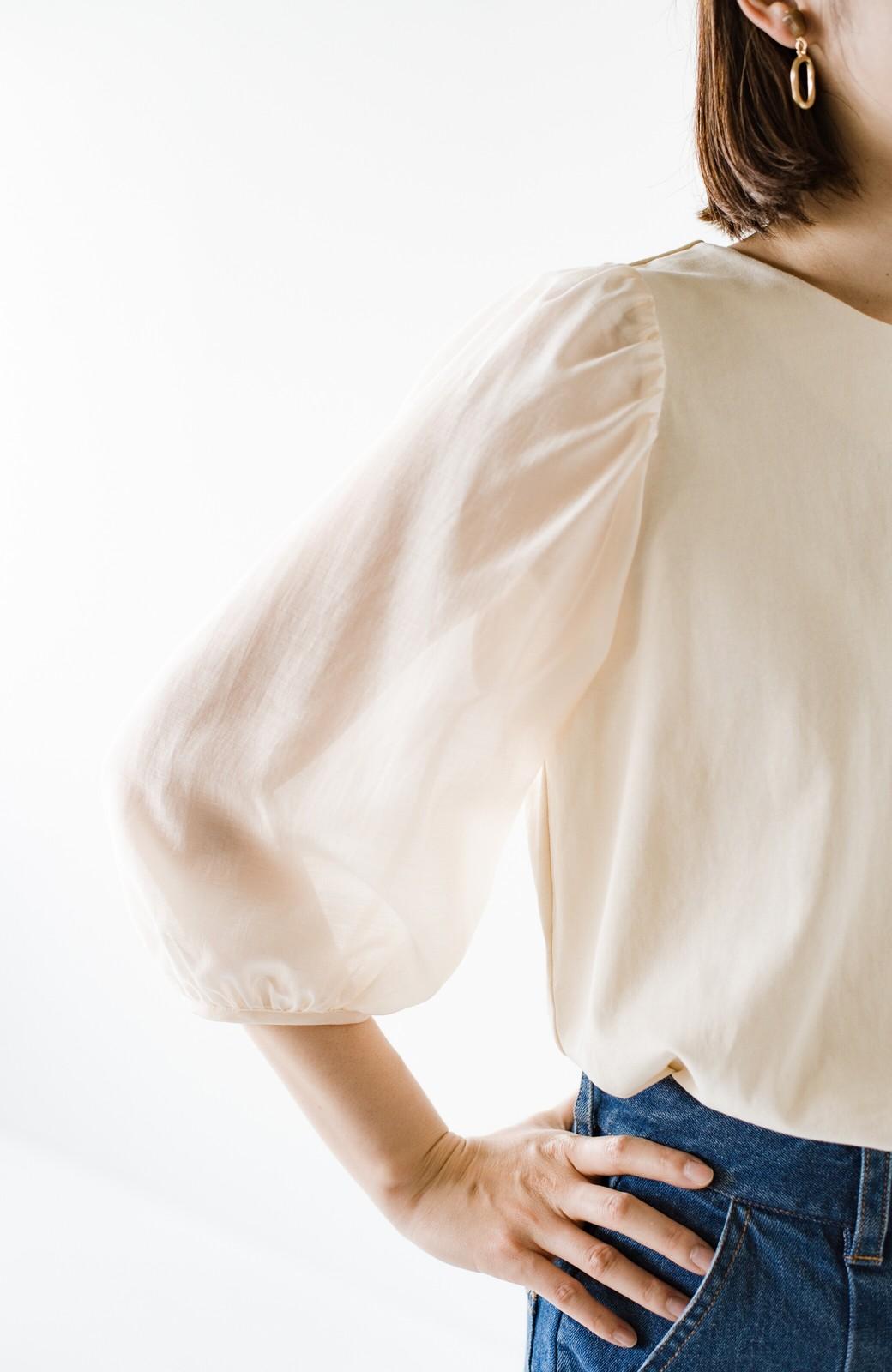 haco! 頑張りすぎずにキュンとしたい!欲張り女子のためのシアースリーブカットソートップス <アイボリー>の商品写真7