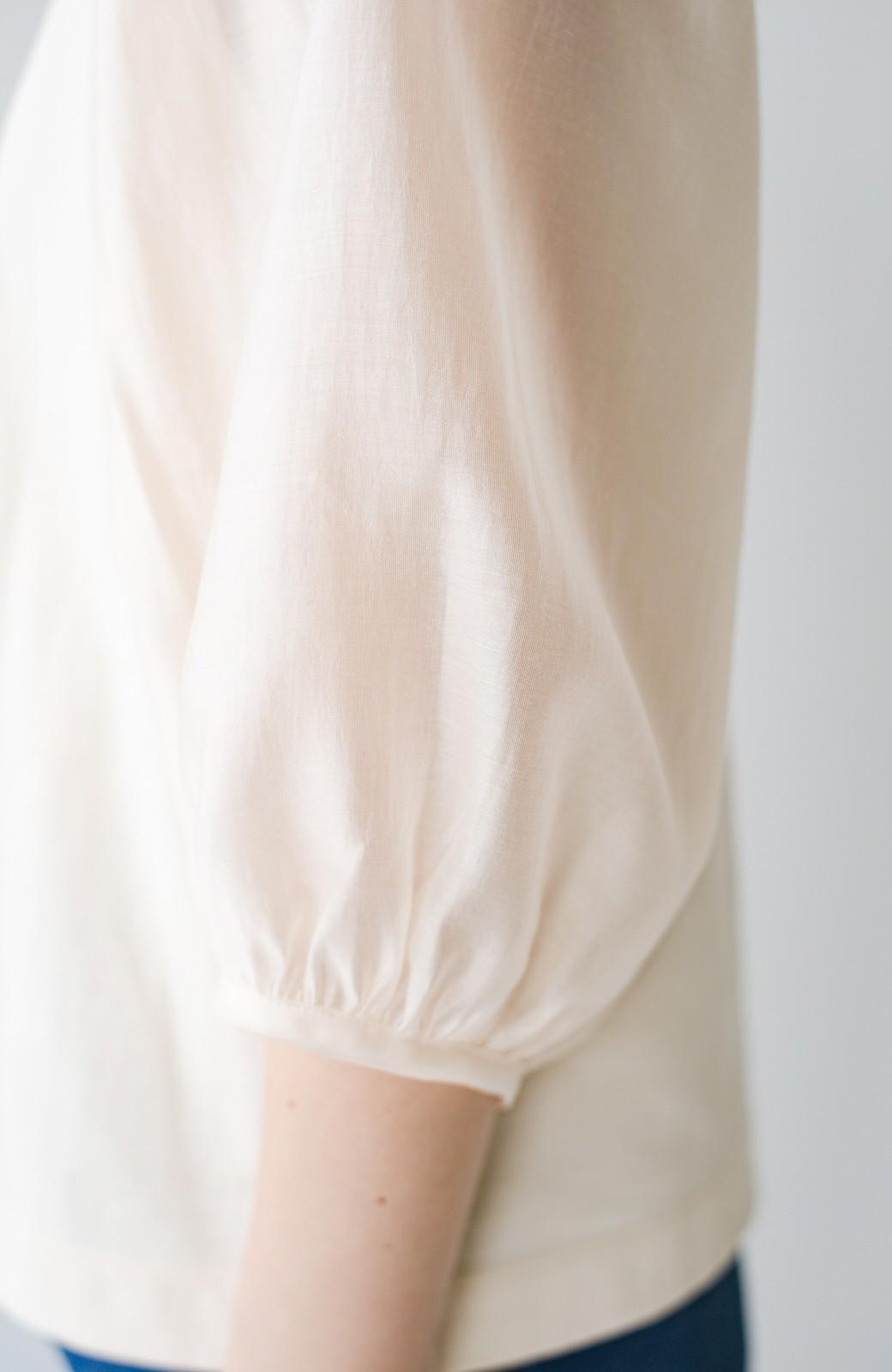 haco! 頑張りすぎずにキュンとしたい!欲張り女子のためのシアースリーブカットソートップス <アイボリー>の商品写真11