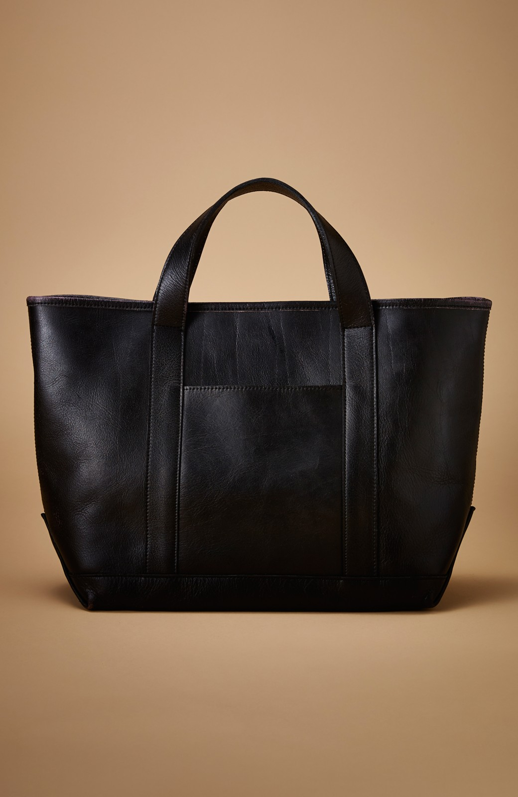 haco! made in JAPAN の本革トートバッグ by que made me <ブラック>の商品写真18
