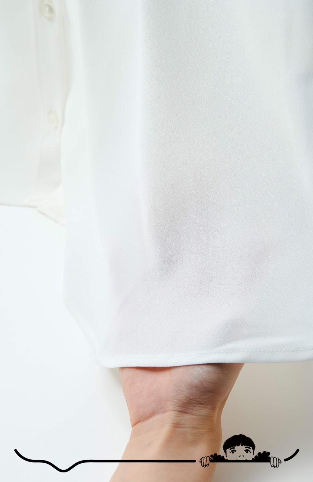 haco! Tシャツの代わりにこれを着といたら女っぽく上品になれる!ほんのり透け感が今っぽいピンタックブラウスby who made me <オフホワイト>の商品写真6