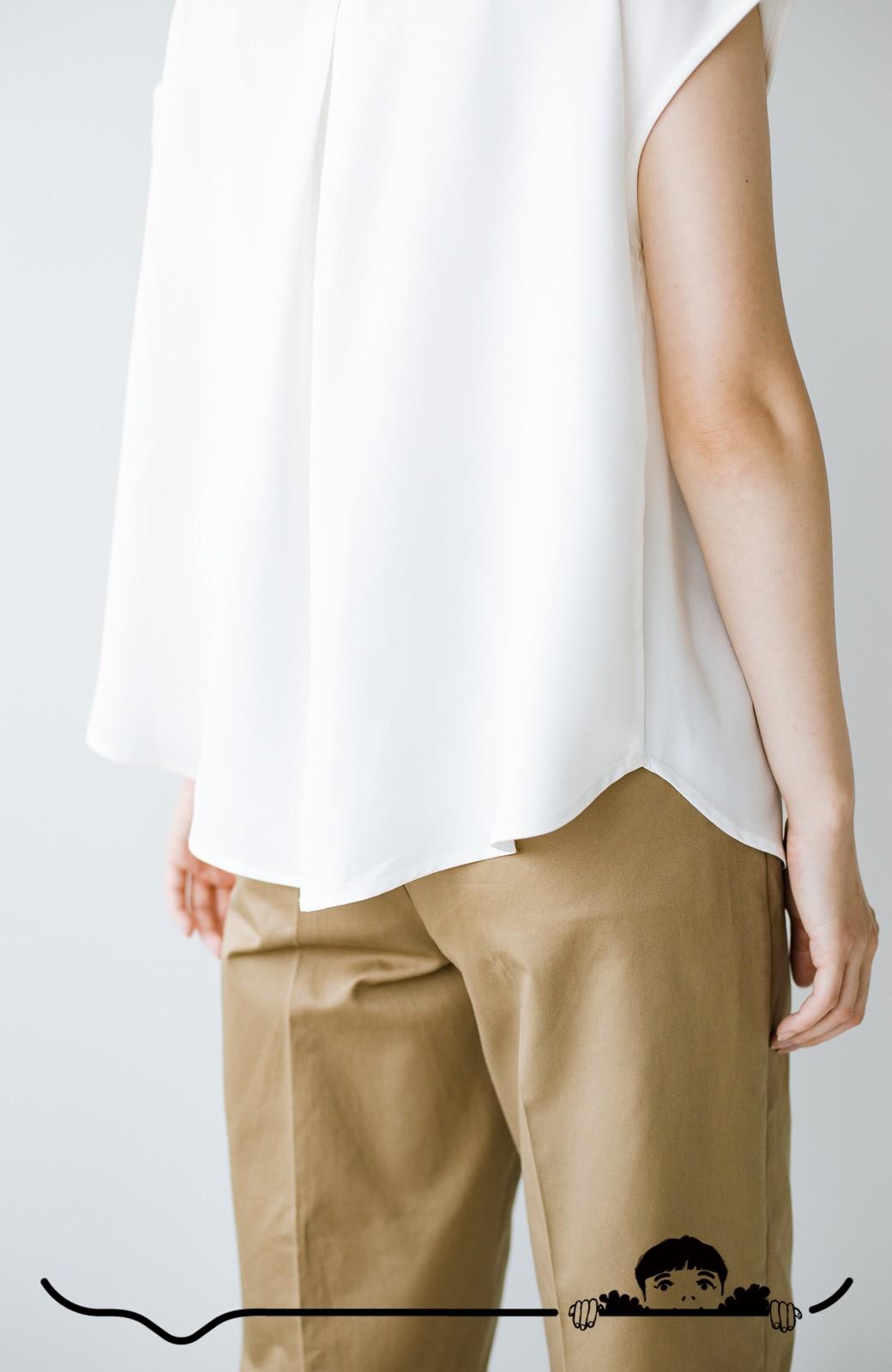 haco! Tシャツの代わりにこれを着といたら女っぽく上品になれる!ほんのり透け感が今っぽいピンタックブラウスby who made me <オフホワイト>の商品写真9