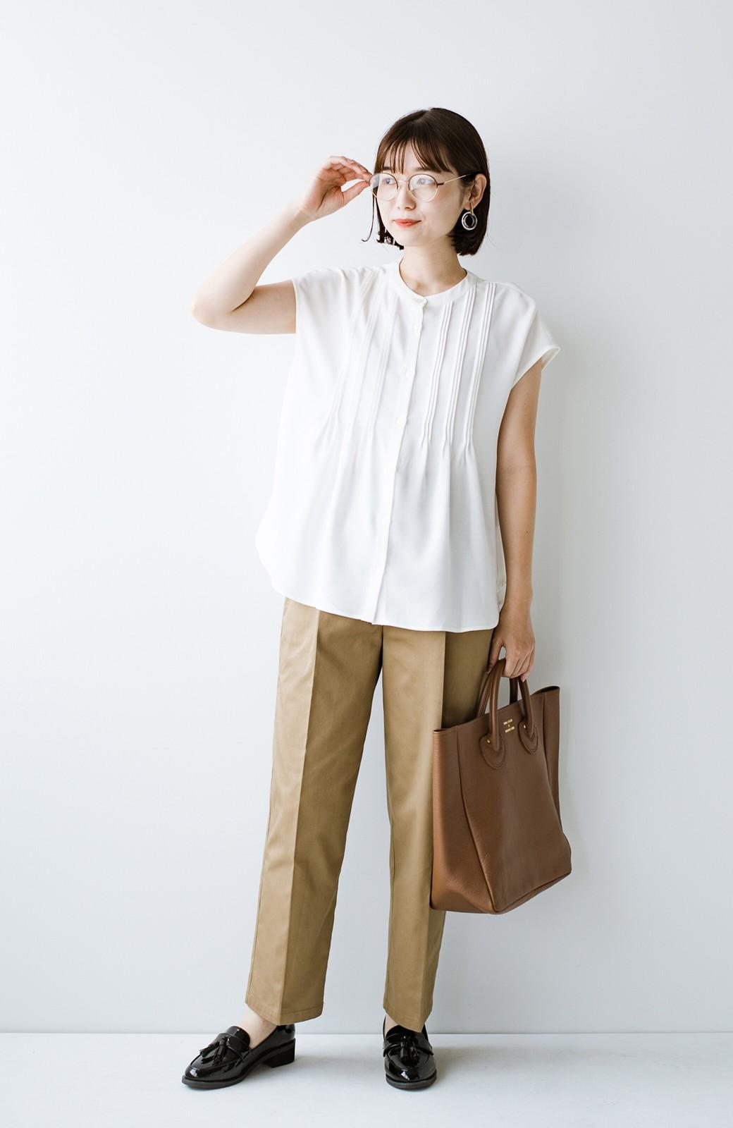 haco! Tシャツの代わりにこれを着といたら女っぽく上品になれる!ほんのり透け感が今っぽいピンタックブラウスby who made me <オフホワイト>の商品写真19