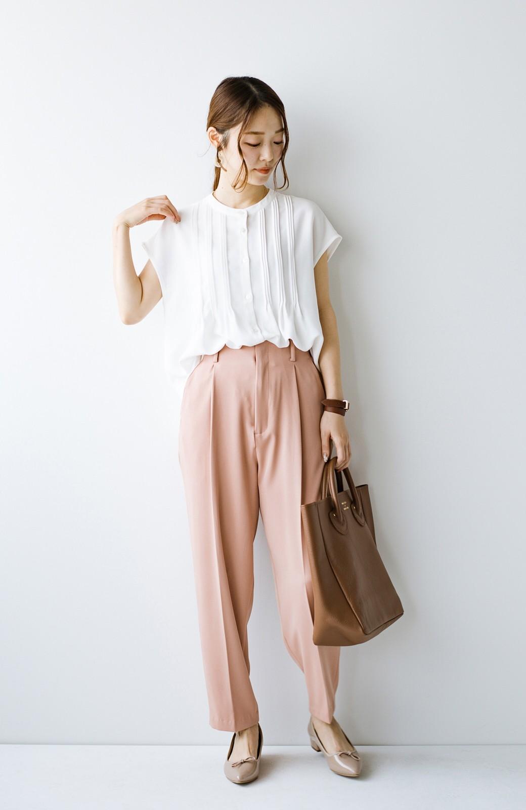 haco! Tシャツの代わりにこれを着といたら女っぽく上品になれる!ほんのり透け感が今っぽいピンタックブラウスby who made me <オフホワイト>の商品写真13