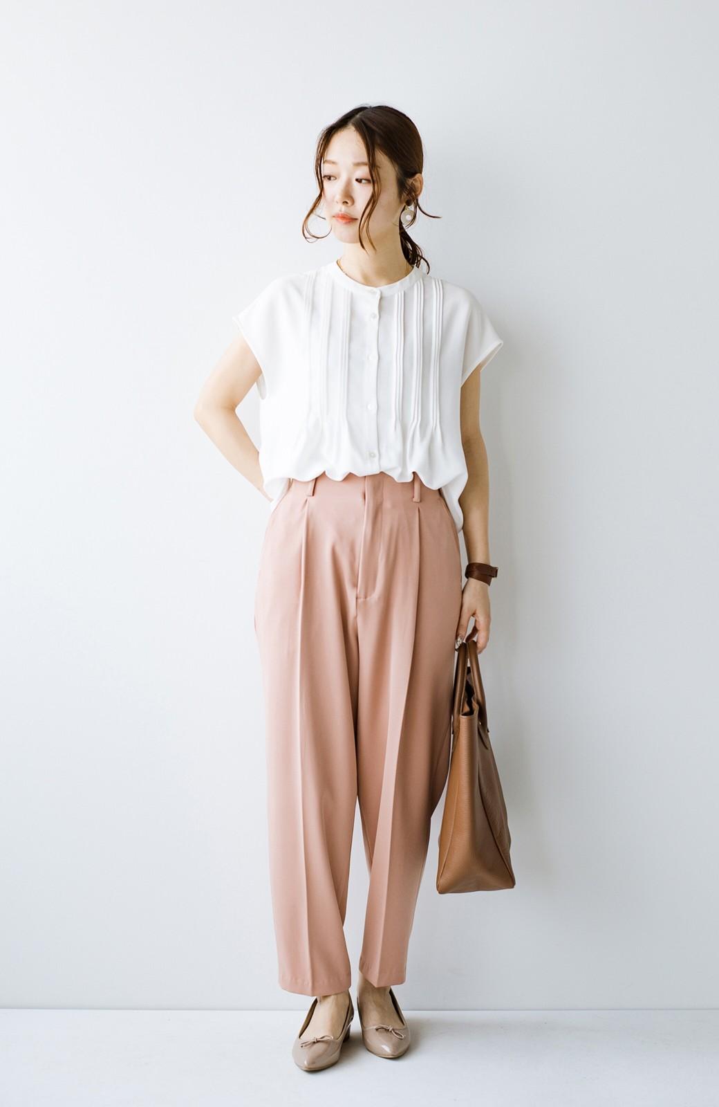 haco! Tシャツの代わりにこれを着といたら女っぽく上品になれる!ほんのり透け感が今っぽいピンタックブラウスby who made me <オフホワイト>の商品写真14