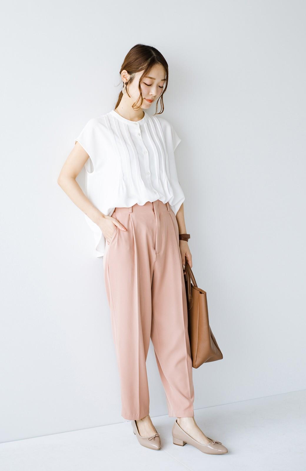 haco! Tシャツの代わりにこれを着といたら女っぽく上品になれる!ほんのり透け感が今っぽいピンタックブラウスby who made me <オフホワイト>の商品写真12