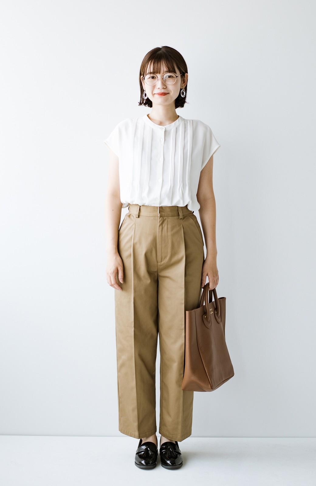 haco! Tシャツの代わりにこれを着といたら女っぽく上品になれる!ほんのり透け感が今っぽいピンタックブラウスby who made me <オフホワイト>の商品写真20