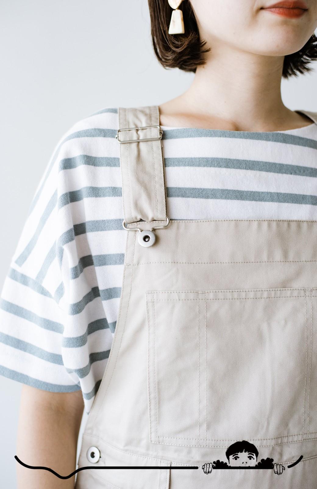 haco! わんぱく女子感も牧場感も回避!Tシャツを合わせるだけでも大人っぽいジャンパースカートby who made me <アイボリー>の商品写真7