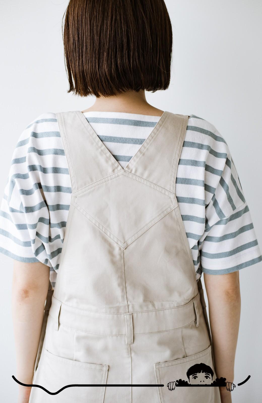 haco! わんぱく女子感も牧場感も回避!Tシャツを合わせるだけでも大人っぽいジャンパースカートby who made me <アイボリー>の商品写真8