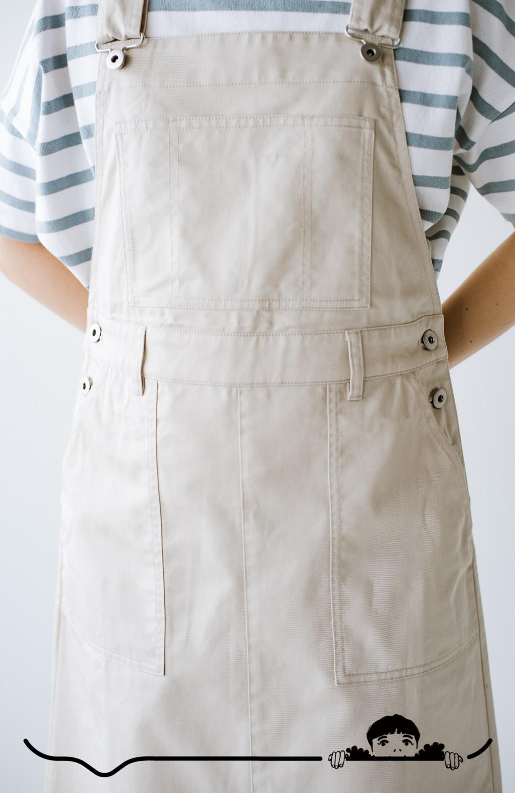 haco! わんぱく女子感も牧場感も回避!Tシャツを合わせるだけでも大人っぽいジャンパースカートby who made me <アイボリー>の商品写真6