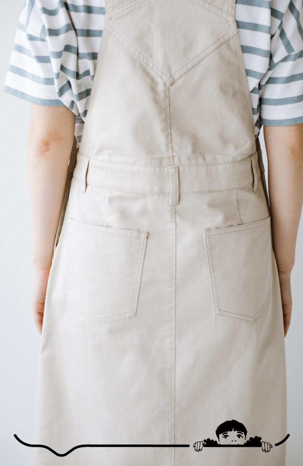 haco! わんぱく女子感も牧場感も回避!Tシャツを合わせるだけでも大人っぽいジャンパースカートby who made me <アイボリー>の商品写真9