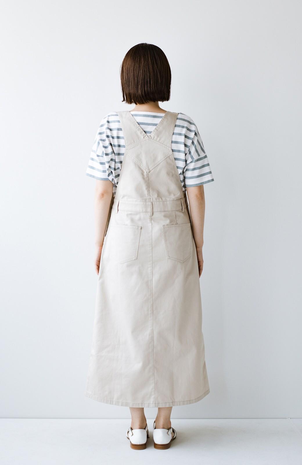 haco! わんぱく女子感も牧場感も回避!Tシャツを合わせるだけでも大人っぽいジャンパースカートby who made me <アイボリー>の商品写真23