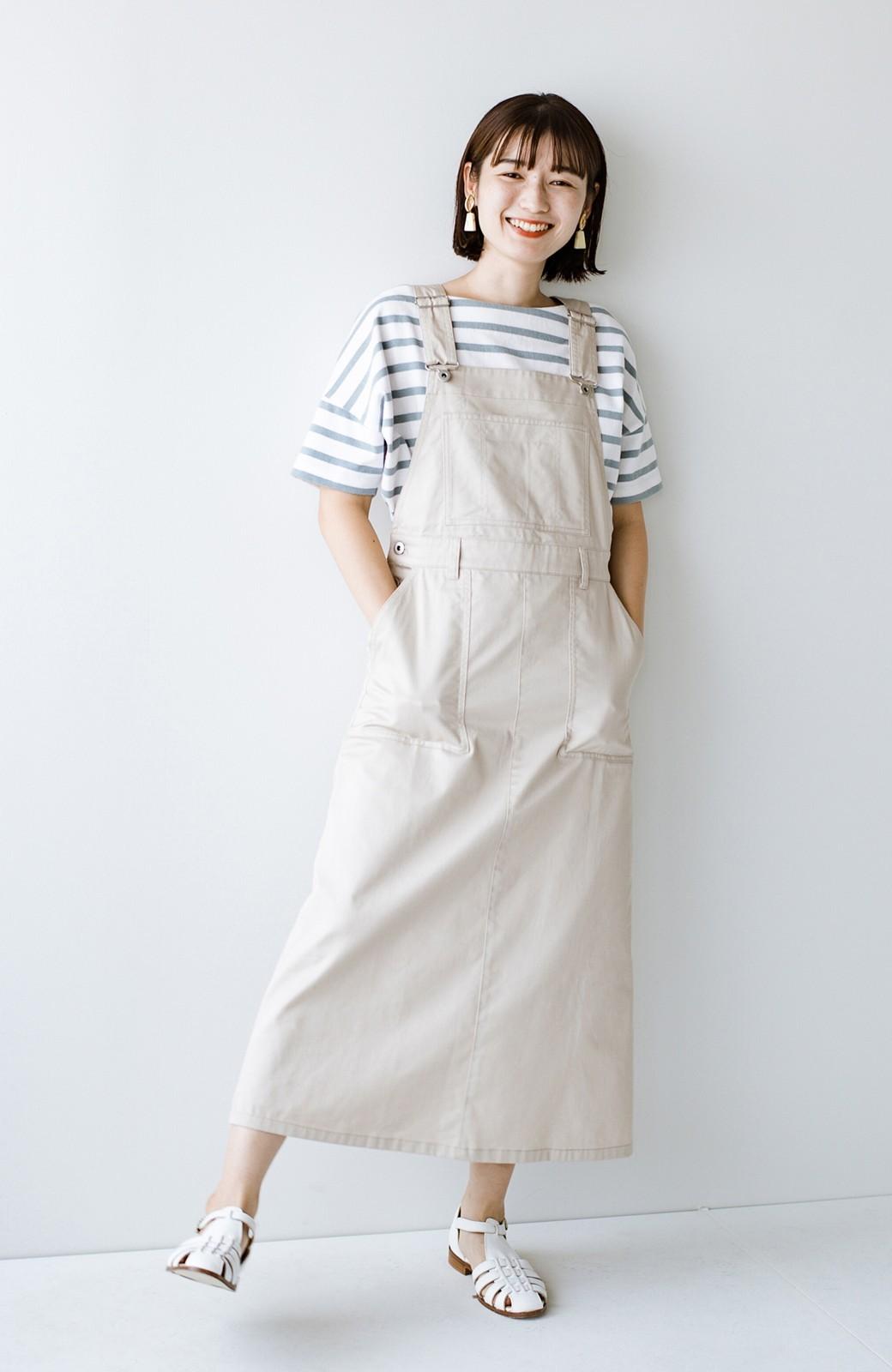 haco! わんぱく女子感も牧場感も回避!Tシャツを合わせるだけでも大人っぽいジャンパースカートby who made me <アイボリー>の商品写真15