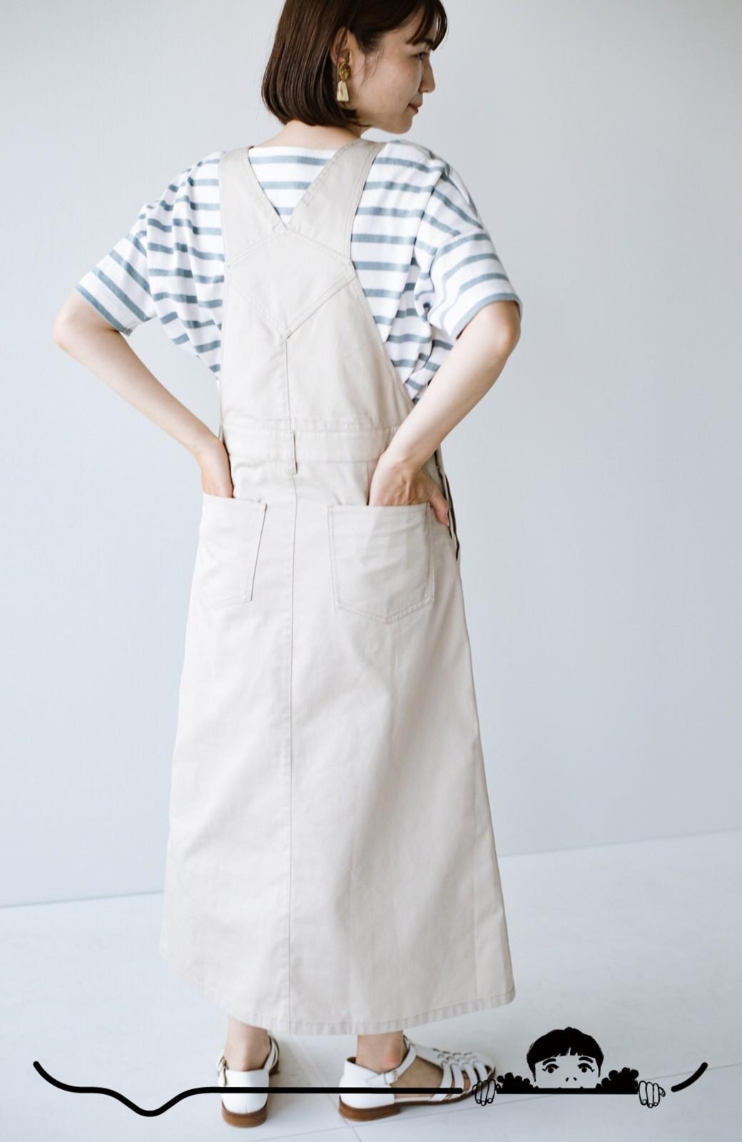 haco! わんぱく女子感も牧場感も回避!Tシャツを合わせるだけでも大人っぽいジャンパースカートby who made me <アイボリー>の商品写真3